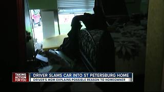 Driver slams into St. Petersburg house as family sleeps inside - Video