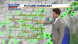 Mostly cloudy with a few showers Thursday - Video