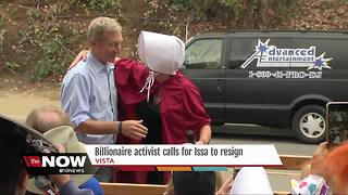 Billionaire activist calls for Issa to resign - Video