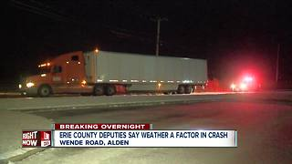 Weather a factor in overnight Alden crash - Video