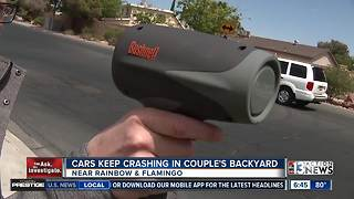 Las Vegas man wants speeding enforcement after block wall crash - Video
