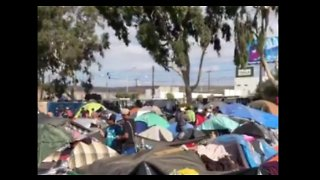 Overcrowding, Poor Conditions Seen in Temporary Migrant Shelter in Tijuana