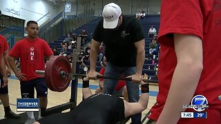 Special Olympics power-lifting regional event