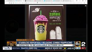 Is Starbucks releasing a Zombie Frappucino? - Video