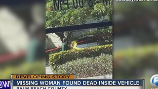 Missing woman found dead inside vehicle - Video