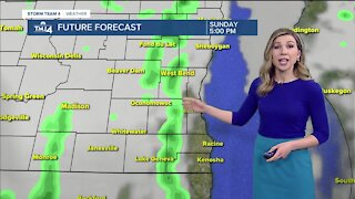 More rain showers Sunday, highs in low 50s