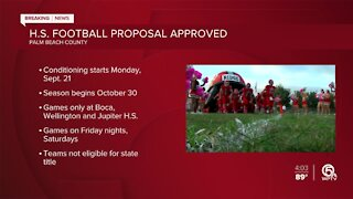High school football to start for Palm Beach County schools on Monday