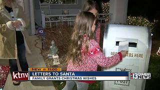 Neighborhood Santa Claus writes letters and shops for kids - Video