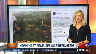 Kevin Hart features Kern County firefighters