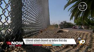 Balboa Elementary cleaned up before first day - Video