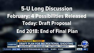 Draft proposal released Thursday on recreational shooting in Arapaho, Roosevelt National Forests