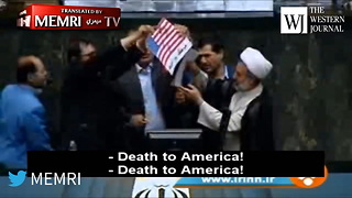 Watch: Iranian Politicians Burn Us Flag, Shout 'Death To America' After Trump Leaves Iran Deal