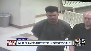 Oakland A's catcher arrested in Scottsdale for pointing gun at woman - Video