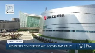 Tulsa residents concerned with COVID and rally