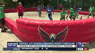 Capitals helping Baltimore Schools teach hockey