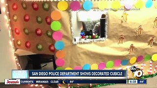 SDPD employee gets into holiday spirit with decorated cubicle