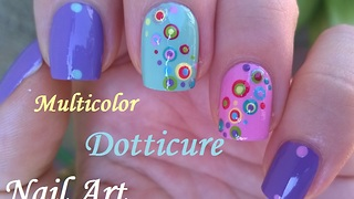Multicolor Dotticure Nail Art - Video