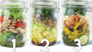 3 Salad-in-a-jar great recipes