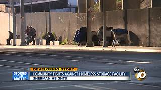 Community fights against homeless storage facility - Video