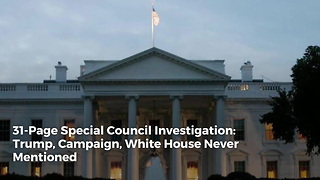 31-Page Special Council Investigation: Trump, Campaign, White House Never Mentioned - Video