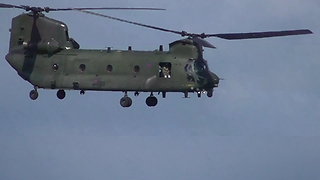 Chinook Display Team At Torbay Airshow 2017 - Video