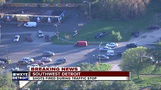 Shot fired as Detroit police attempt traffic stop in southwest Detroit - Video