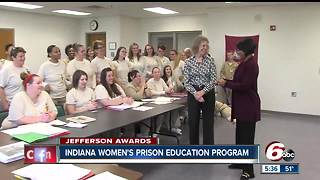 Jefferson Awards: Woman recreates education program at Indiana Women's Prison - Video