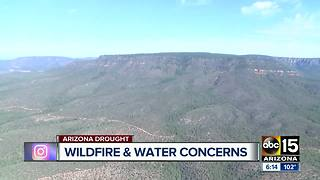 Drought conditions increase wildfire dangers and threaten water supplies