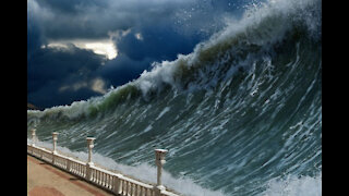 Tsunami is very strong