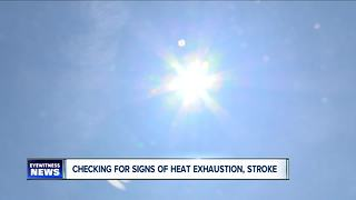 Warning signs of health risks in warm weather