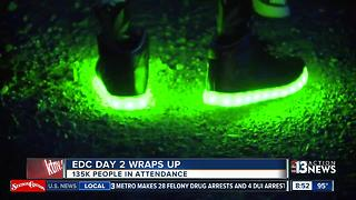 Day 2 of EDC ends with 305 medical calls, 28 felony drug arrests - Video