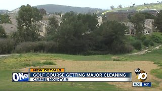 Golf course getting major cleaning