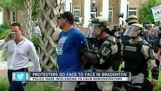 3 arrested during dueling protests in Bradenton - Video