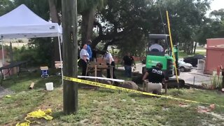 Detectives, crime scene technicians investigating discovery of bones in Fort Pierce