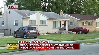 Off-duty Detroit police officer shot and killed inside Garden City home