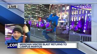 Detroit's Meridian Winter Blast returns to Campus Martius - Video