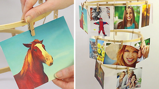 DIY Hanging photo holder - Video