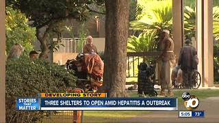 Mayor announces plan to open three homeless shelters amid Hepatitis A outbreak - Video