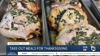 Take-out meals for Thanksgiving