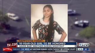 UPDATE: 10-year-old honored for shielding baby from gunshots