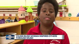 Detroit 2020 Person of the Week: Blind woman inspires others through music - Video