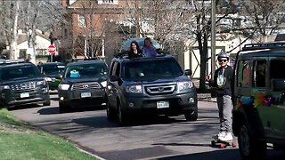 Colorado boy celebrates 13th birthday with surprise parade during coronavirus pandemic