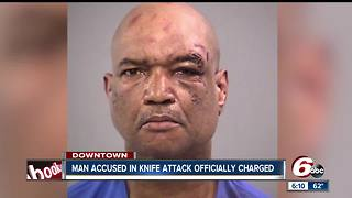 Downtown Indy knife attack suspect targeted pregnant woman - Video