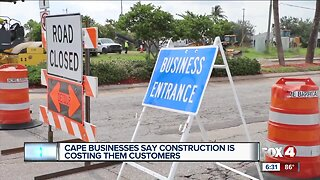 Cape Businesses say construction is costing them customers