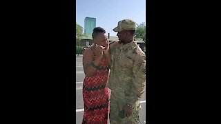 Soldier Surprises Mom After Returning From 7-Month Deployment