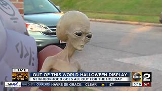 One Baltimore Co. community goes big for Halloween - Video