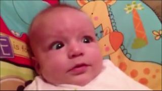 Aww!! Adorable Baby Makes Surprised Faces - Video