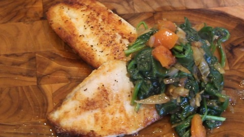 How to make tilapia with baby spinach