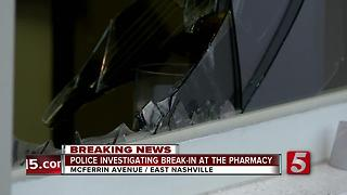 Police Investigate Break-In At The Pharmacy Burger Parlor - Video