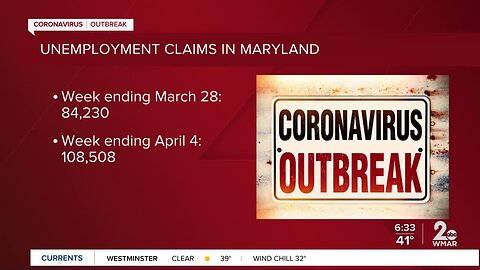 108,508 Maryland citizens filed for unemployment last week
